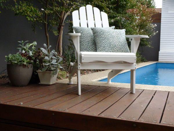 Zambia Sea Foam on andirondack chair
