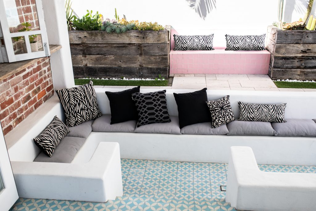 Outdoor Interiors various black range of Sunbrella outdoor cushions