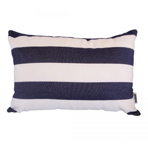 Positano Navy 30x45cm horizontal Sunbrella outdoor cushion