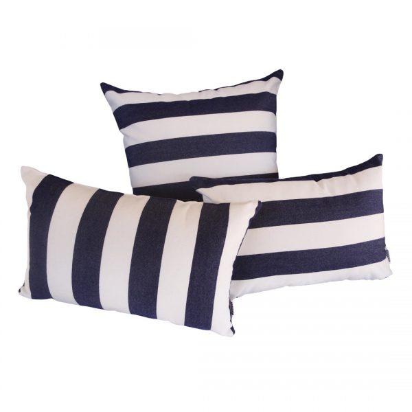 Positano Navy Sunbrella group outdoor cushions