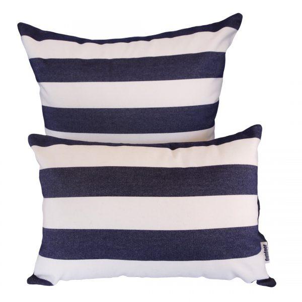 Positano Navy Sunbrella outdoor cushions