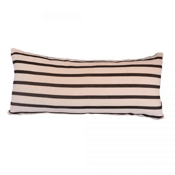 Biarittz Black 30x65cm horizontal outdoor cushion