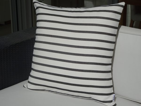 Biarritz Black 60x60cm outdoor cushion