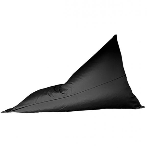 Black Sunbrella outdoor bean bag side
