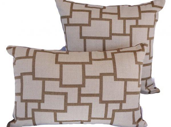 Bordeaux Teak Sunbrella outdoor cushions