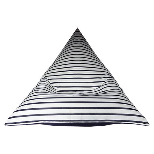 Capri Navy Sunbrella Outdoor Bean Bag
