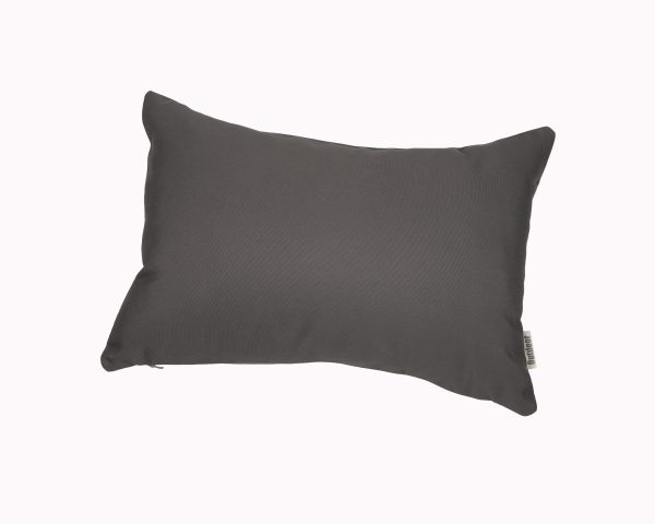 Charcoal Grey 30x45cm Sunbrella outdoor cushion from Outdoor Interiors
