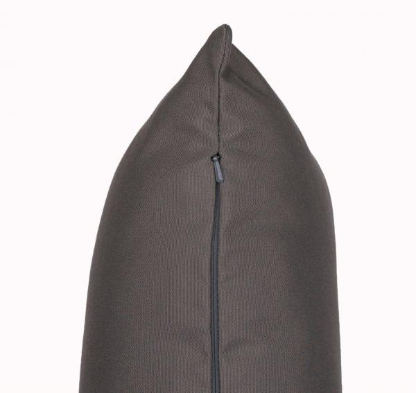 Charcoal Grey zip view Sunbrella outdoor cushion from Outdoor Interiors