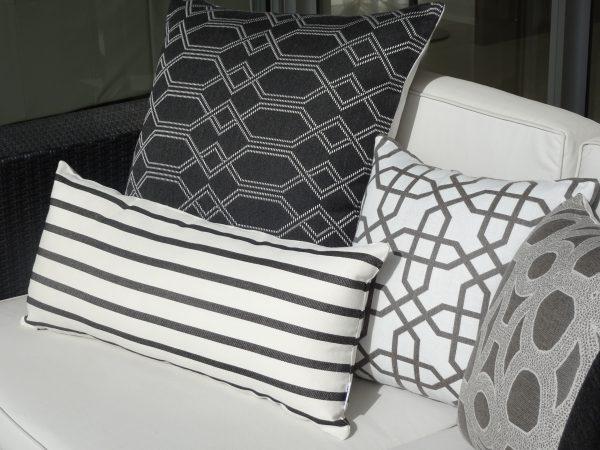 Navajo Grey Seychelles Grey Biarritz Black Naxos Grey Sunbrella outdoor cushions