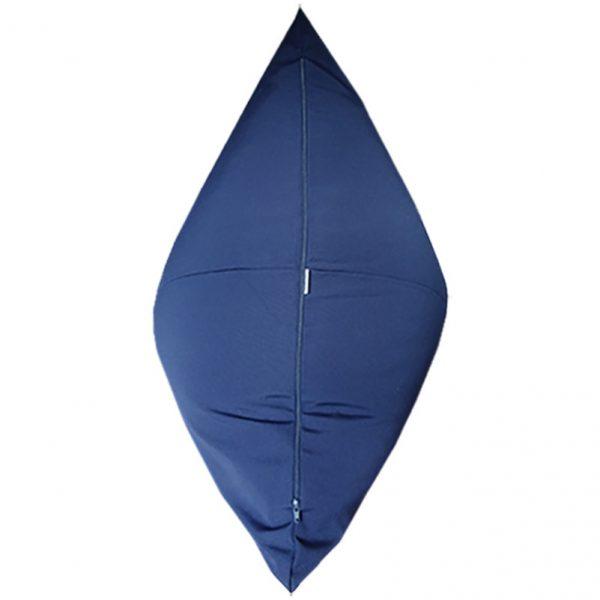 Navy Sunbrella Outdoor Bean Bag back view