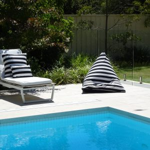 Positano Black Outdoor Bean Bag