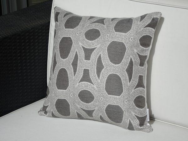 Seychelles Grey 40x40cm Sunbrella outdoor cushion