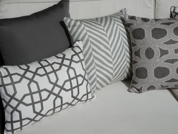 Various greys new seaon Sunbrella outdoor cushions