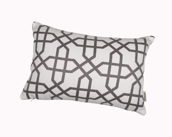 Naxos Grey 30x45cm Sunbrella outdoor cushion from Outdoor Interiors
