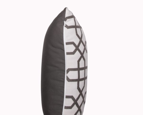 Naxos Grey zip view Sunbrella outdoor cushion