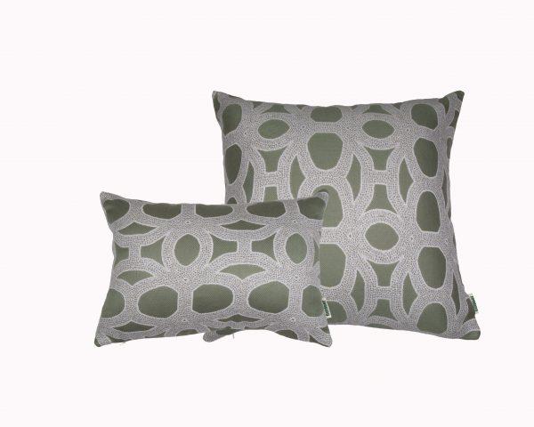 Seychelles Green Sunbrella outdoor cushions from Outdoor Interiors