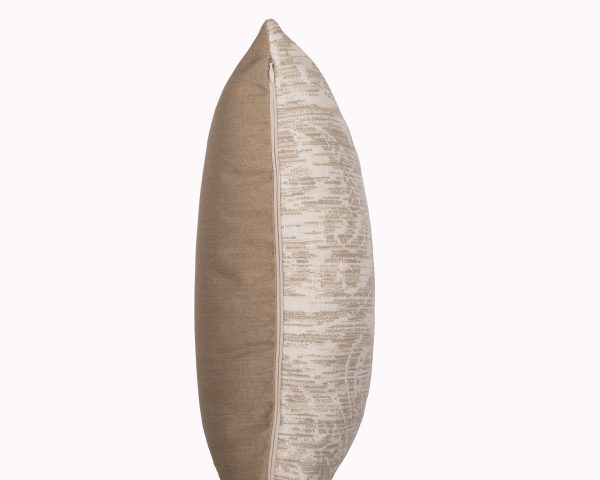 Chennai Heather Beige Zip View Sunbrella outdoor cushion from Outdoor Interiors