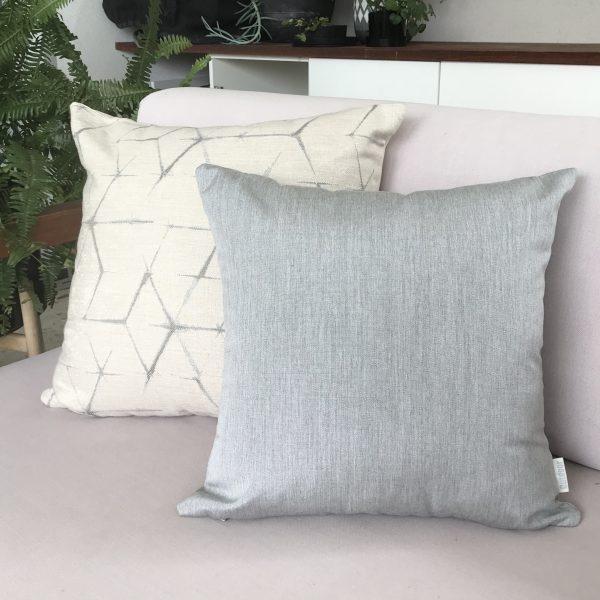 Narita Cream and Silver Grey Sunbrella Outdoor Cushions from Outdoor Interiors