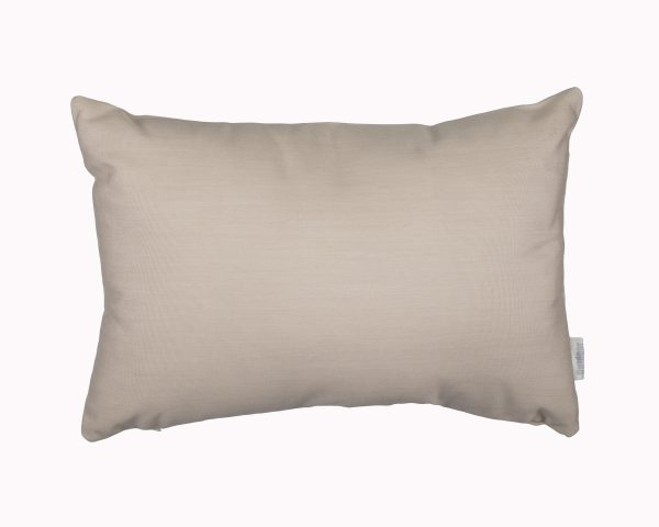 Vellum Cream canvas 30x45cm Sunbrella outdoor cushions from Outdoor Interiors