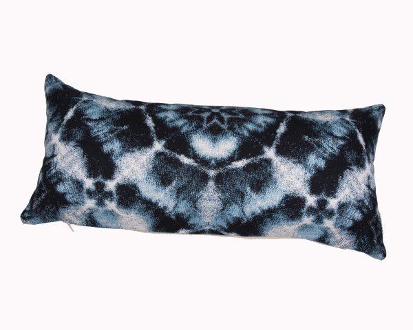 Santorini Blue 30x65cm Sunbrella outdoor cushion from Outdoor Interiors