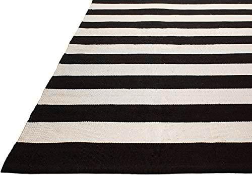 Nantucket Black PET outdoor rug