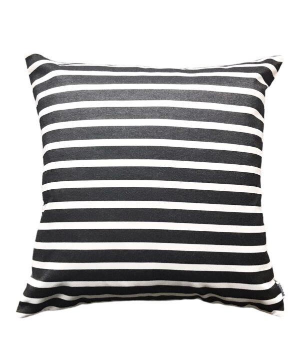 Sorrento Black Sunbrella Fade and Water Resistant Outdoor Cushion