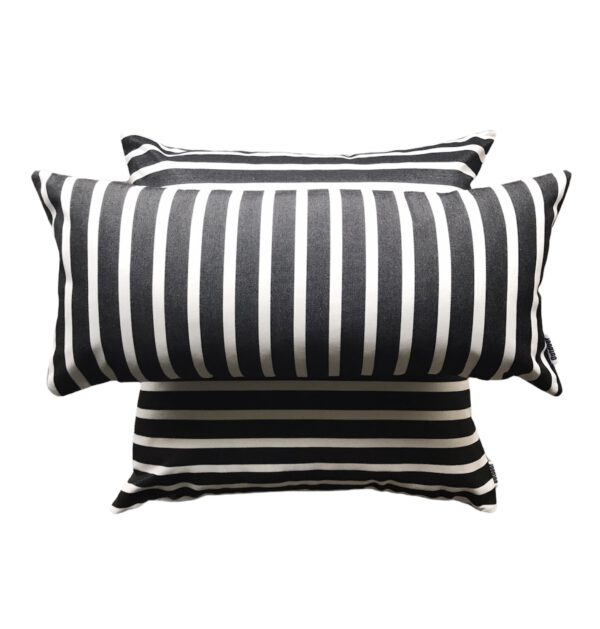 Sorrento Black 30x65cm and 60x60cm Sunbrella Fade and Water Resistant Outdoor Cushion