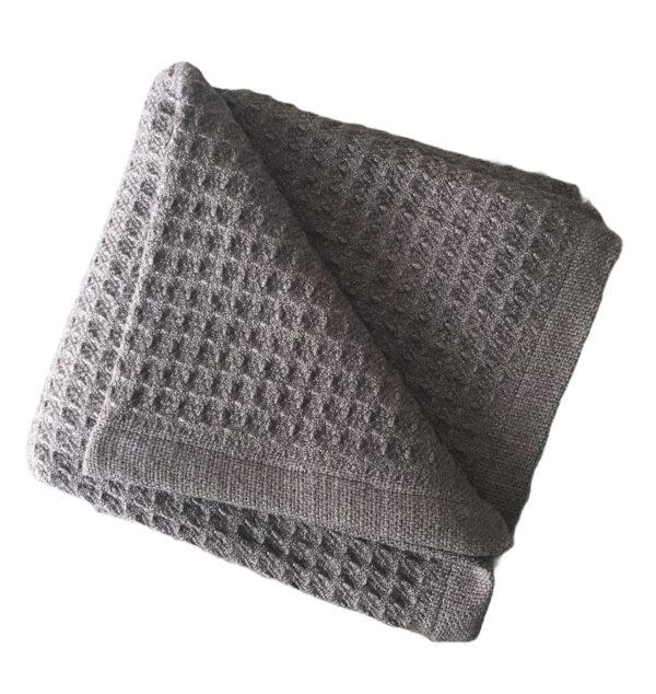 Waffle Grey Sunbrella Outdoor Throw Blanket